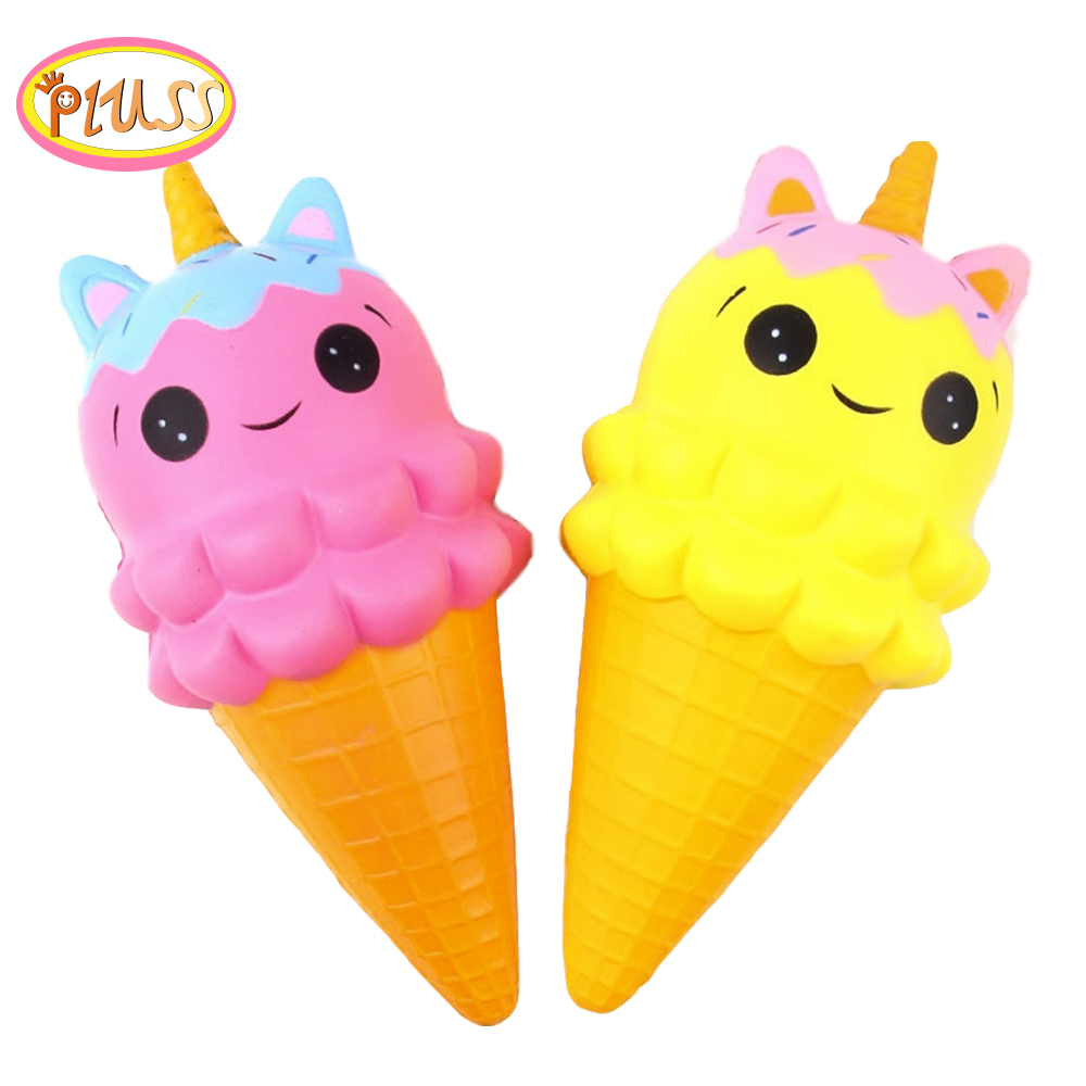 Squishies 2019 Squeeze Ice Cream Kawaii Cute Jumbo Squishy Slow Rising PU Foam Toys Scented Squishy Unicorn Toy
