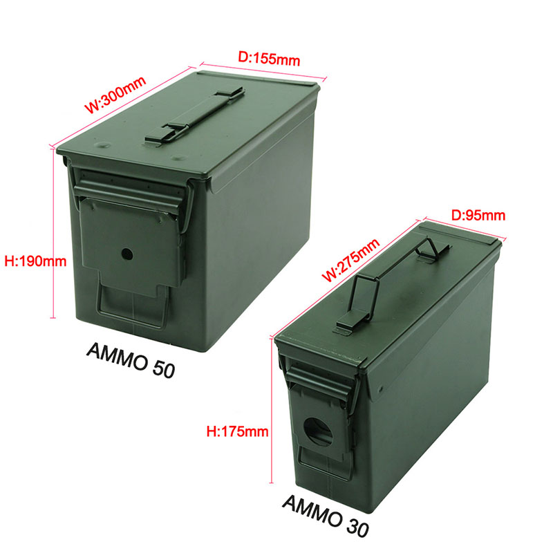 Metal Ammo Case Can Waterproof Military and Army Solid Steel Holder Box for Long-Term Bullet Valuables Storage (66)