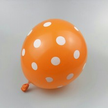 Orange spotted baloons 50pcs/lot12 inch thick round latex inflatable ballon birthday party decoration babyshower balloons