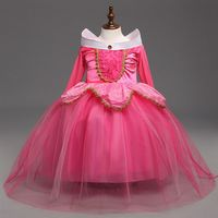 New Sleeping Beauty Aurora Princess Girl Dress Kids Cosplay Dress Up Halloween Costumes For Kids Girls