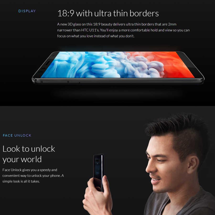 Горячая Распродажа мобильный телефон HTC U12 Plus 4G LTE 6 ГБ 128 ГБ/64 ГБ Android 8 Восьмиядерный процессор Snapdragon 845 6,0 дюйма 2K экран IP68 смартфон