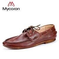 MYCORON Новое поступление весна осень дышащие Мокасины мужские лоферы брендовая дизайнерская мужская обувь Tenis Masculino Adulto