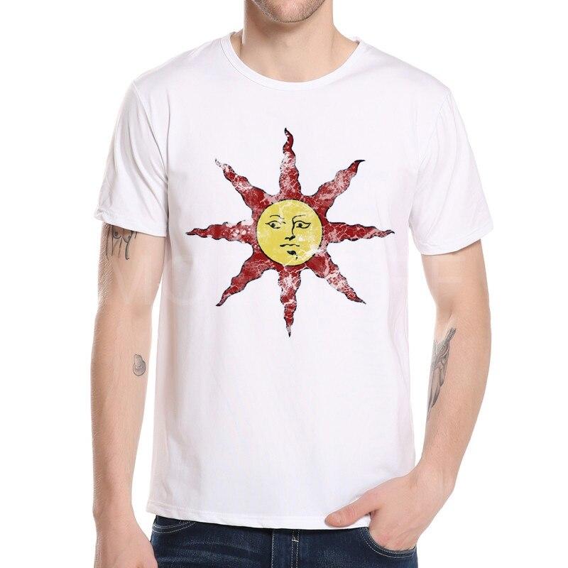 Verano Moda hombre Camisetas Dark souls arterias elogios al sol impresión camiseta casual ropa juego fresco camisetas M5-1 #