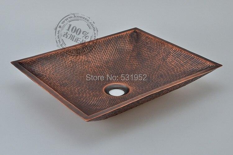 Free Shipping Fashion Wash Basin, Rectangular Basin, Handmade Copper Sink,Antique  Bronze Basin,Brass Countertop Basin, Wholesale In Bathroom Sinks From Home  ...