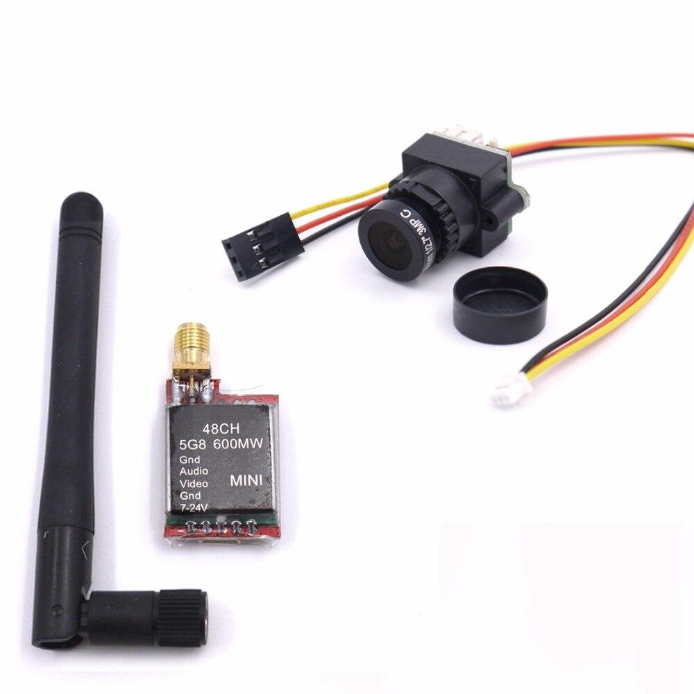 FPV Mini Digital Video Camera 1000TVL 1000 TVL Line 2.8mm lens and TS5828 Micro 5.8G 600mW 48CH Transmitter For RC qulticopter