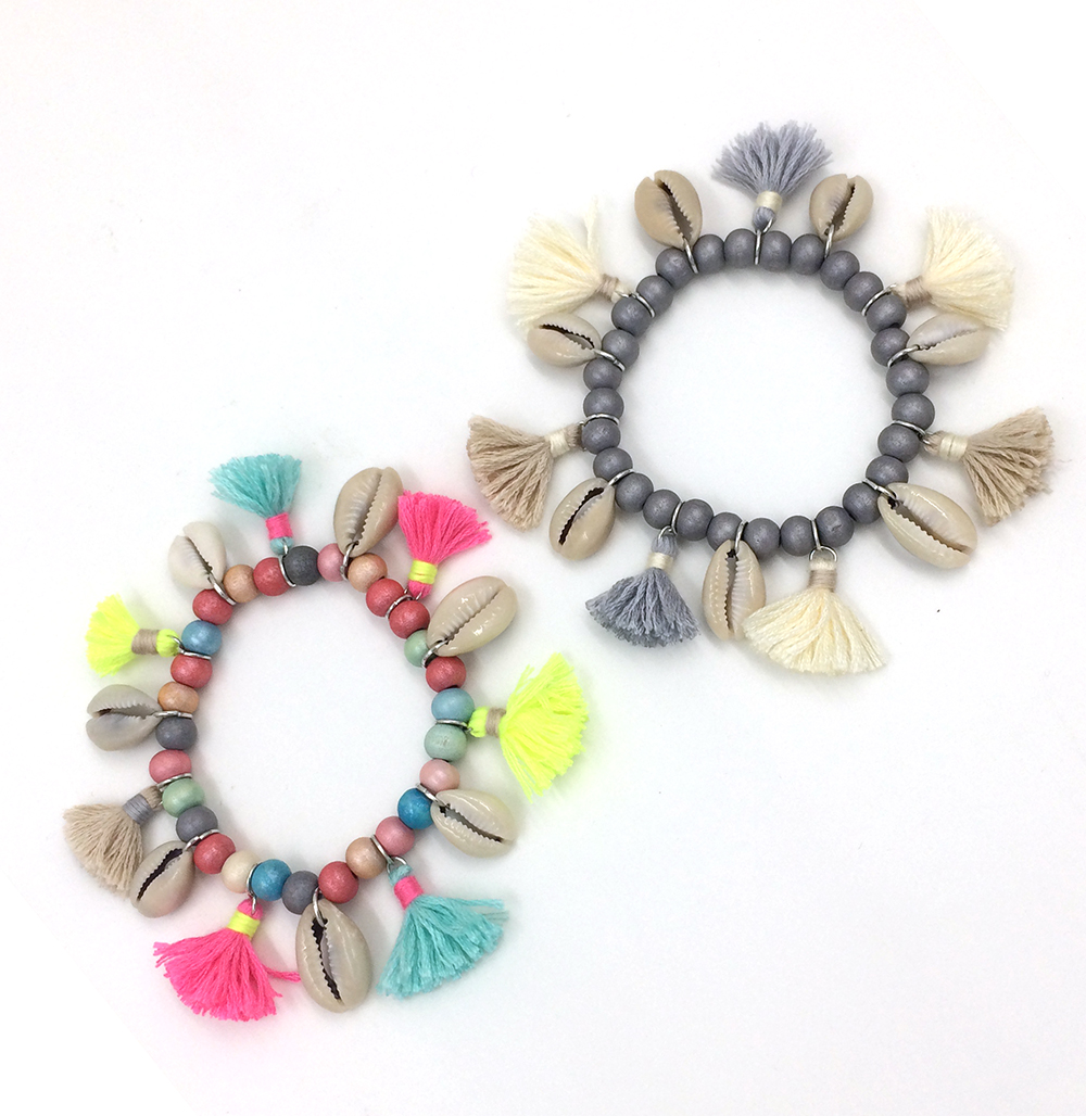 2017 bohemia jewelry friendship bracelet cotton tassel