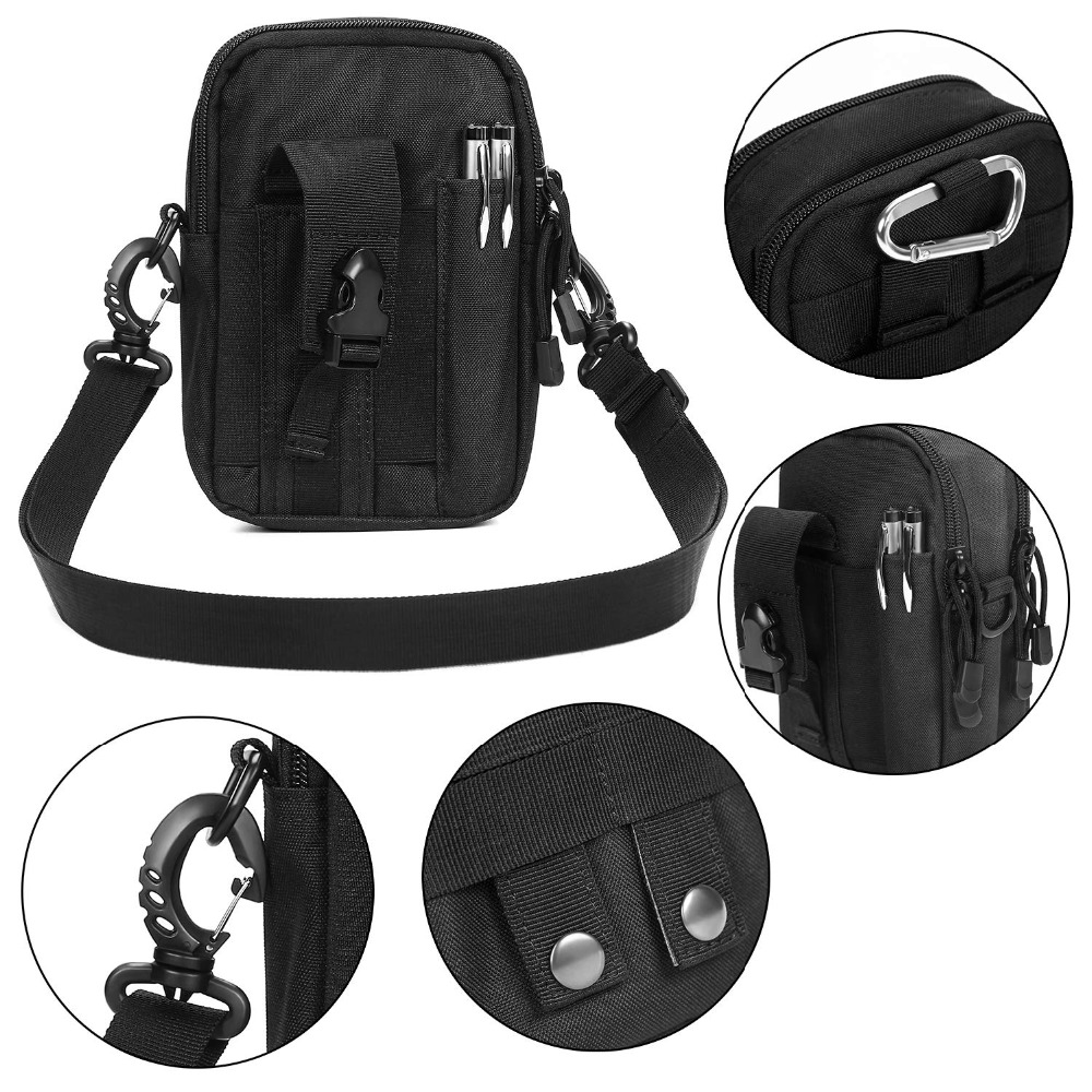 Multifunctional Camping Waist Pack Climbing Emergency Molle Survival Kits Outdoor Tactical Bag Wallet Pouch Outdoor Sport Pack (1)