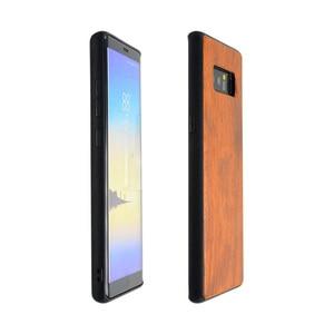 Image 4 - לסמסונג גלקסי הערה 8 מקרה עץ אמיתי funda סמסונג Note8 Rosewood TPU עמיד הלם כיסוי טלפון מעטפת עבור סמסונג הערה 8 מקרה