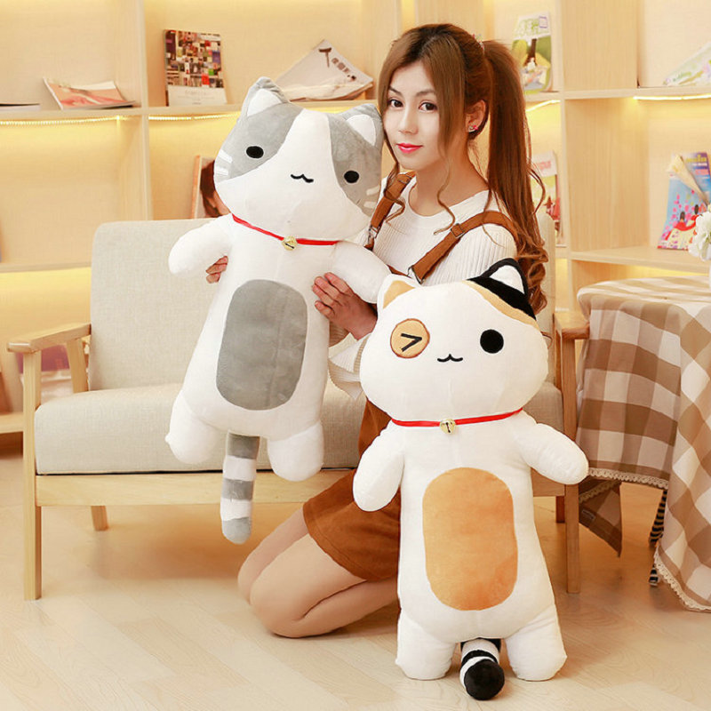 2018 New Style Christmas present baby toys 80cm kawaii cat pillow stuffed plush cat plush toys PP Cotton cloth doll fancytrader new style giant plush stuffed kids toys lovely rubber duck 39 100cm yellow rubber duck free shipping ft90122
