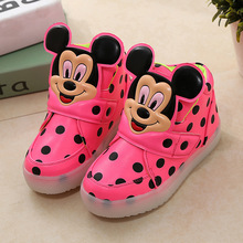 Free shipping New Autumn Boys girls mickey Fashion font b Children b font font b Shoes