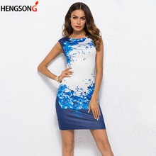 02e4136b0996d Popular Chinese Blue Floral Dress-Buy Cheap Chinese Blue Floral ...