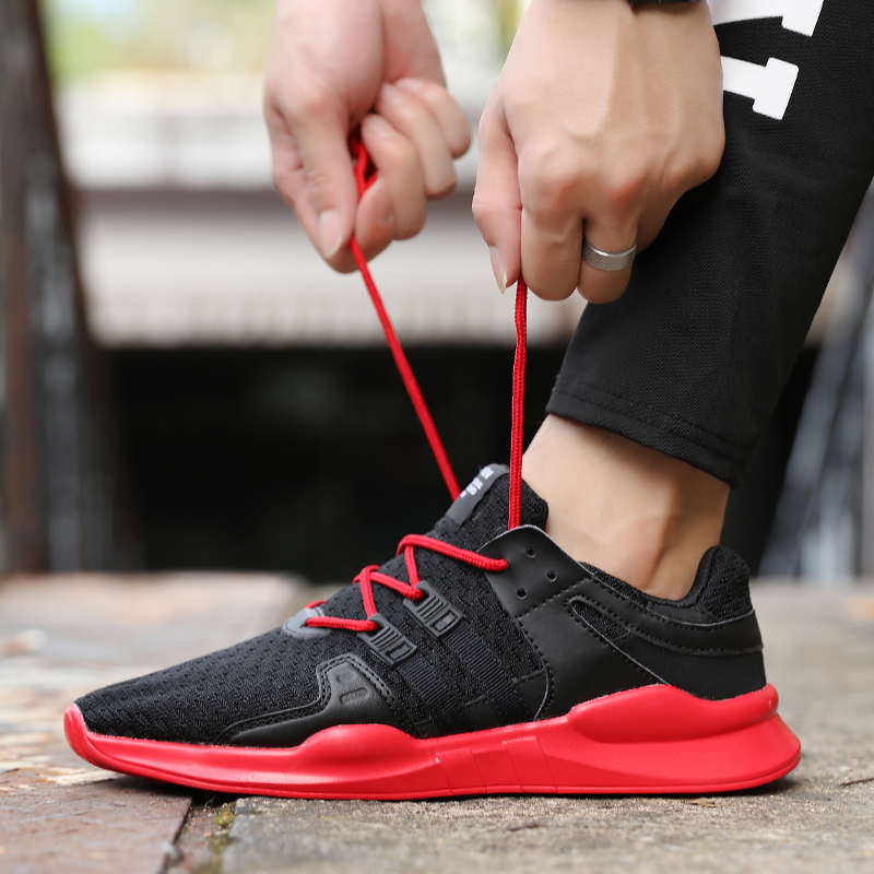 75cc4eaff6c7aa Popular men fashion breathable casual shoes spring young Cheap high quality  Comfortable light sneakers Chaussures pour hommes-in Men s Casual Shoes  from ...