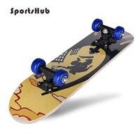 SPORTSHUB 60*15*10CM Outdoor Top Maple Wood Longboard Skateboard for Adult or Children CS0005