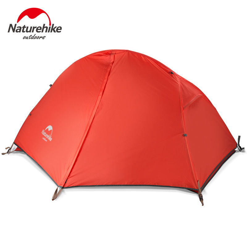 Naturehike 1 Person Camping Hiking Tent Ultralight 1.3KG Waterproof Single Tent Double Layer Outdoor Fishing Tourist Tents naturehike ultralight outdoor recreation camping tent double layer waterproof 1 2 person hiking beach tent travel tourist tents
