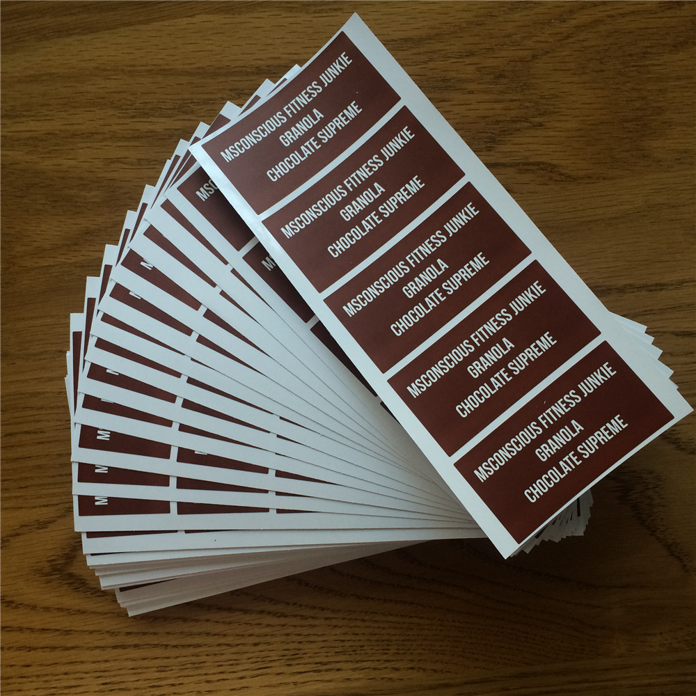 1000pcs free shipping free design custom adhesive vinyl pvc pp waterproof sticker printing bottle lids packaging label 8040mm