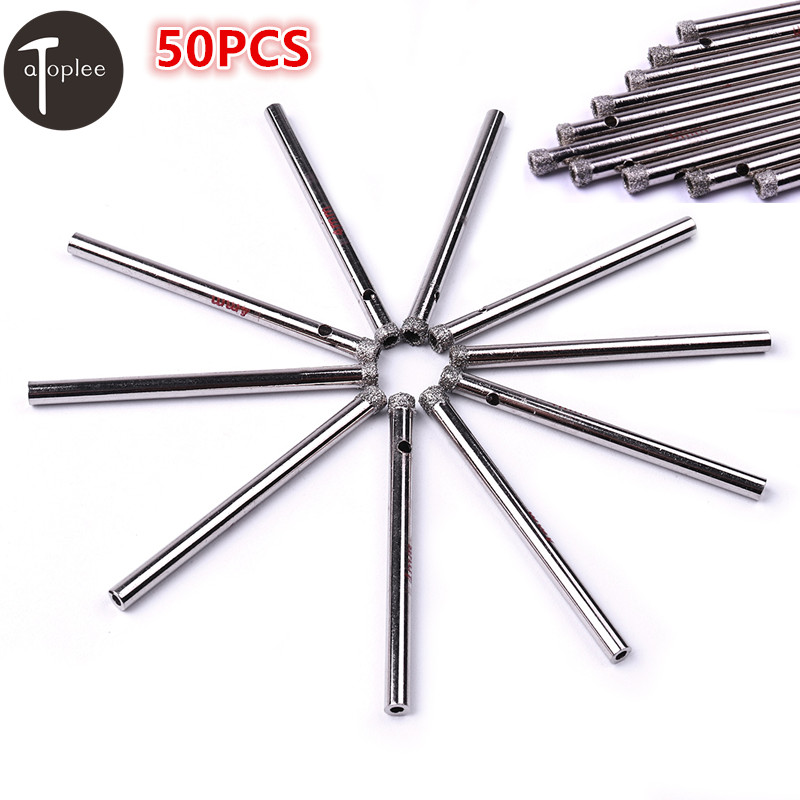 50PCS 3mm,4mm,5mm,6mm,7mm Diamond Coated Hole Saw Drill Bits Hole Tools Cutter For Glass Marble Tile Granite 2pcs 28mm diamond coated core drill bits glass tile granite marble ceramics hole saw metal opener cutter bits drilling tool