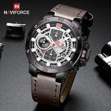 Relogio Masculino NAVIFORCE Mens Watches Top Brand Luxury Men Military Sport Wristwatch Leather Quartz Watch erkek saat 9519 naviforce men watches top brand luxury sport quartz watch leather strap clock men s waterproof wristwatch relogio masculino 9099