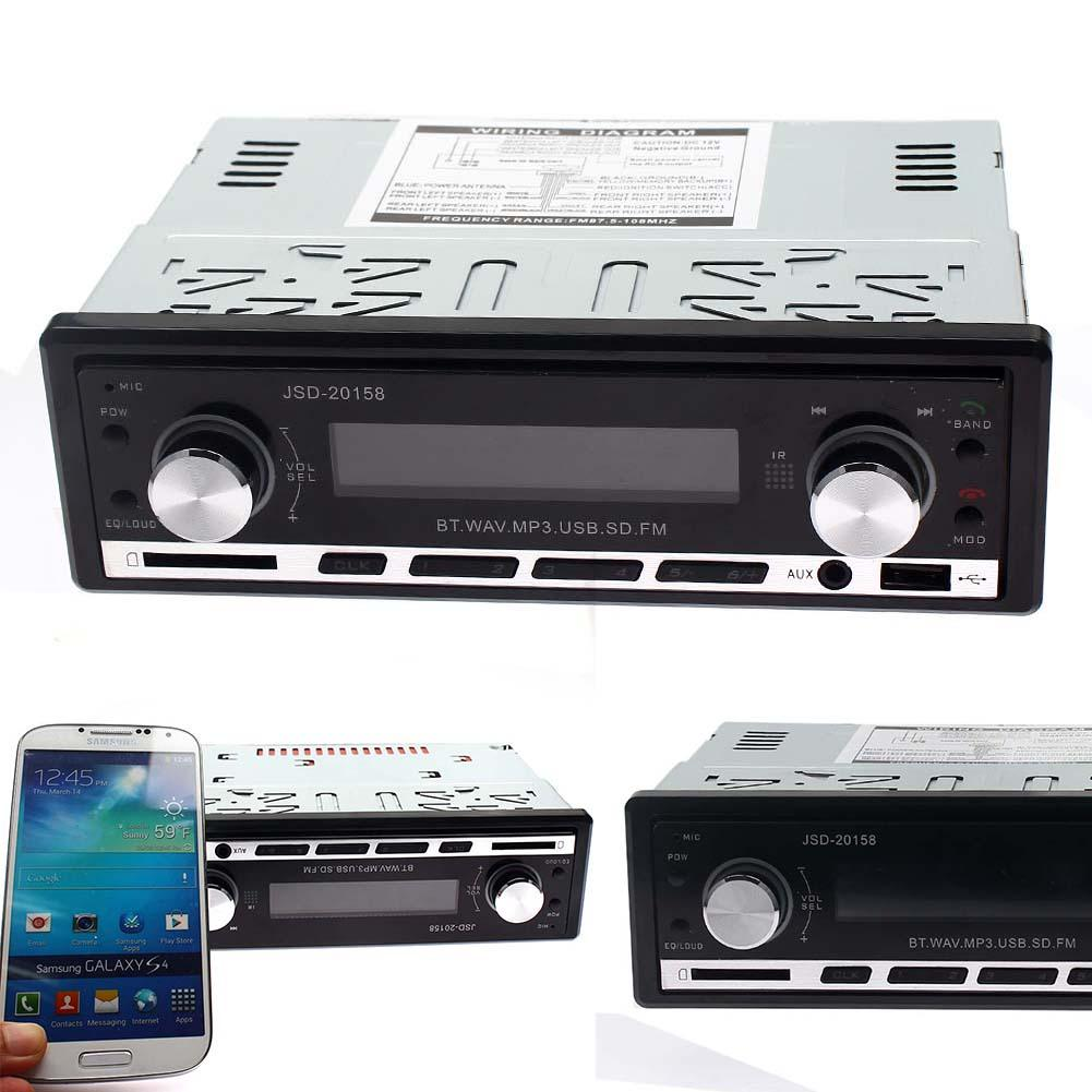 sale bluetooth car stereo audio in dash fm aux input receiver usb mp3 radio player. Black Bedroom Furniture Sets. Home Design Ideas
