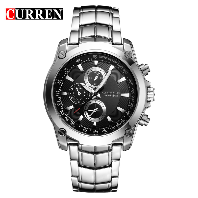 Curren Mens Watches Top Brand Luxury Stainless Steel Quartz Men Watch 2017 Men's Fashion Military Sport Clock Relogio Masculino new luxury men watch roman numbers stainless steel quartz wrist watch male clock mens watches relogio masculino 2018
