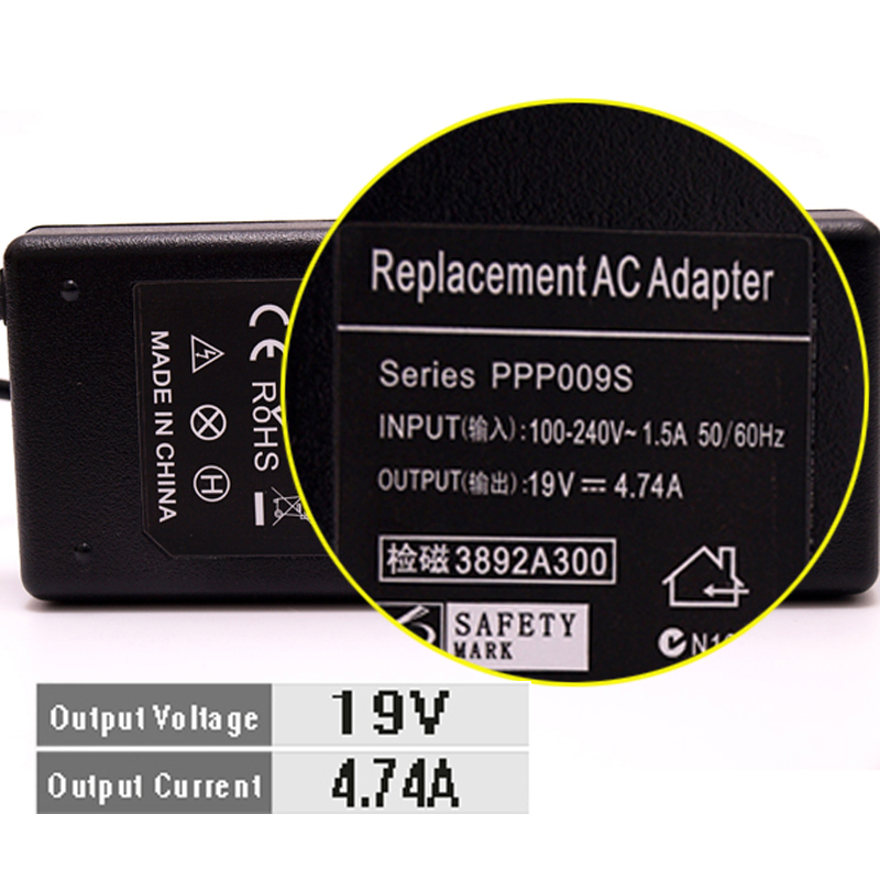 Chargeur universel pour Acer Aspire, 19V, 4,74 a, 90W, adaptateur pour ordinateur portable, pour Acer Aspire, 2019G, 4710 go, 4720 AC, 4730