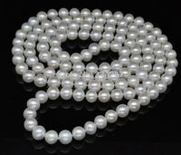 10x10 jewerly freeshipping 55 Natural Huge 11 12mm AA+ level white pearl necklace