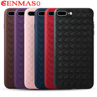 Fashion Striae Weave For Apple IPhone 7 8 7Plus 8Plus Case Luxury Ultra Thin Back Cover
