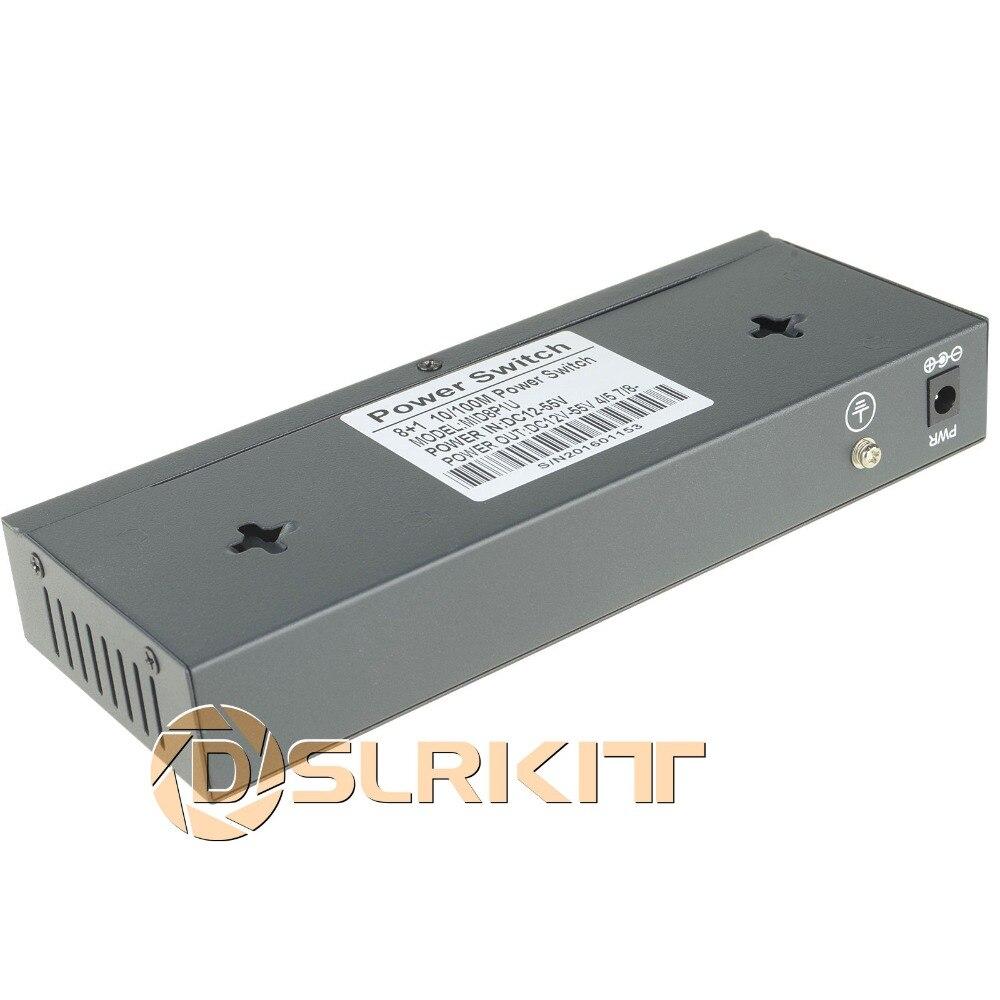 DSLRKIT 48 V 120 W 9 Ports 8 PoE injecteur de puissance sur commutateur Ethernet 4,5 +/7,8-pour caméra IP/système de caméra AP/CCTV sans fil - 6