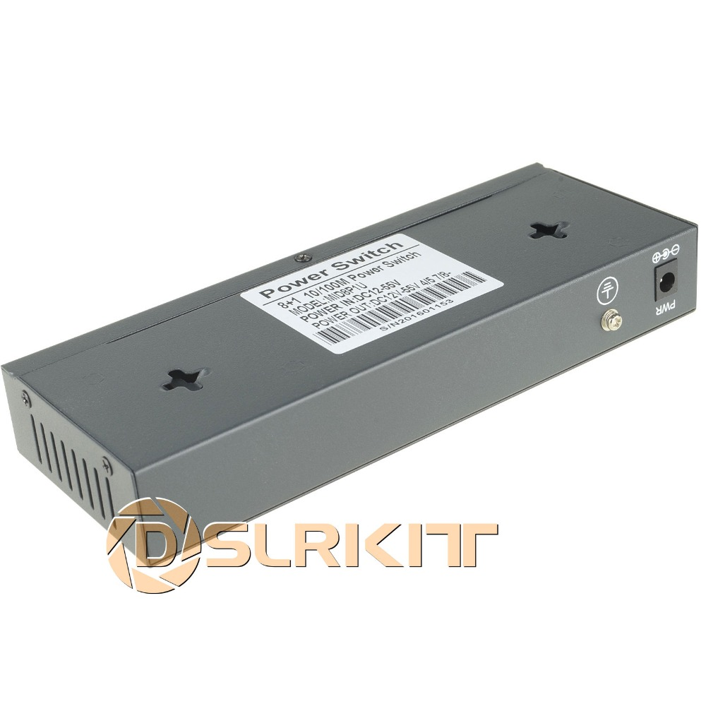 DSLRKIT 48V 120W 9 Ports 8 PoE Injector Power Over Ethernet Switch - Peralatan jaringan - Foto 6