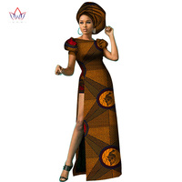 African dresses for women dashiki ankara wax print batik cotton fashion sexy Traditional Plus Size clothing customizable WY3018