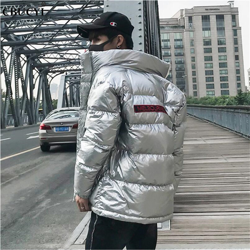 Jacke Herren Winter lässige Parker Mantel Cotton Stehkragen Herren Streetwear MantelReißverschluss Windjacke 2018 lose wasserdichte jMVpGSUzqL