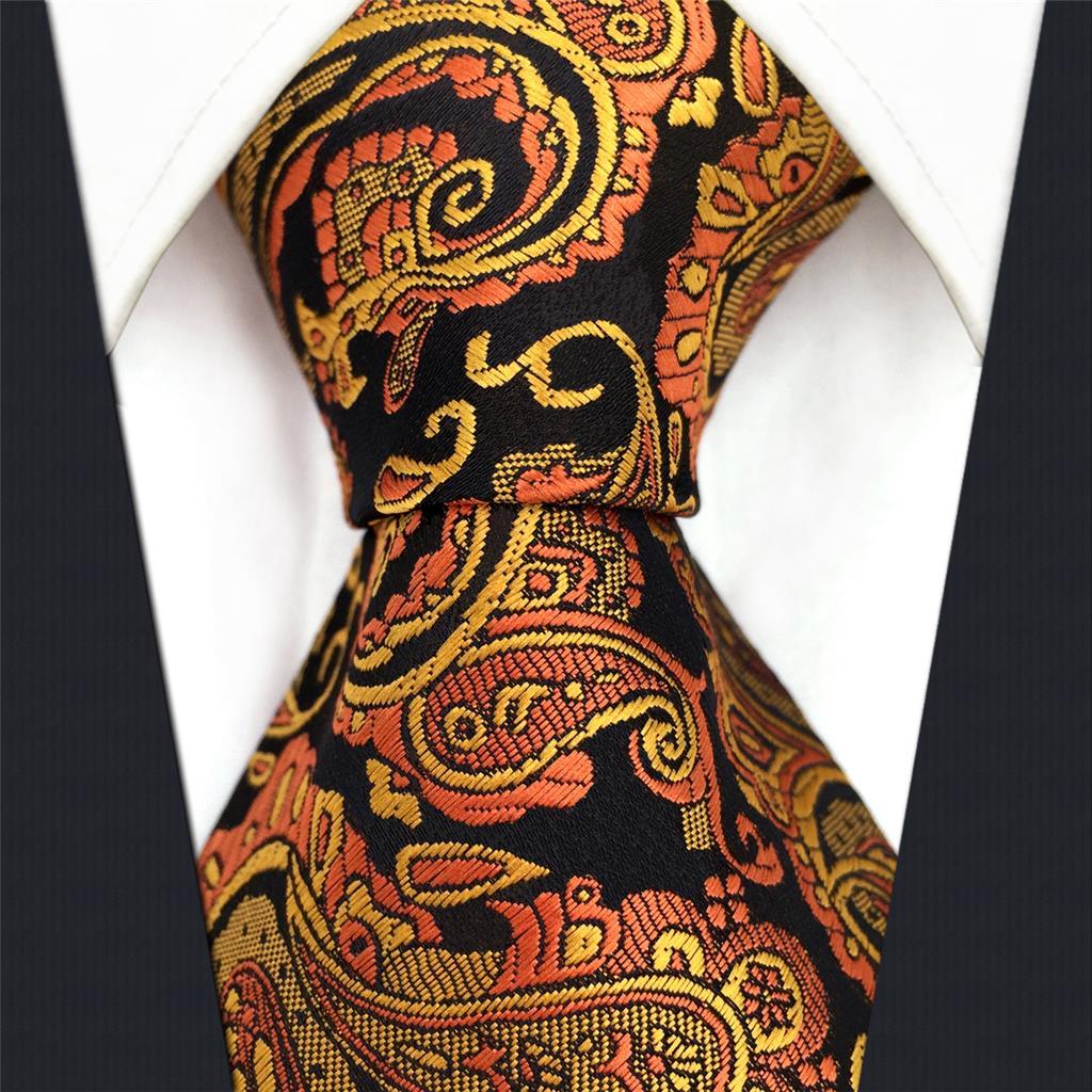 PZ21 Paisley Orange Mens Skinny Necktie Slim Tie 6cm Silk in Men 39 s Ties amp Handkerchiefs from Apparel Accessories