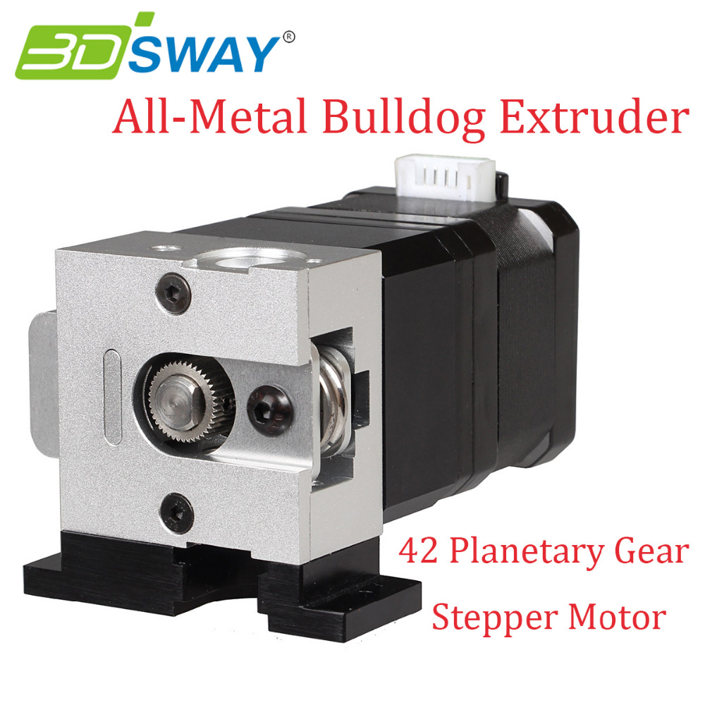 3D Printer All-Metal Bulldog Universal Extruder Aluminium Alloy Extruder for E3D J-head MK8 with 42 Planetary Gear Stepper Motor 1pcs e 3d v6 remote extruder radiator all metal long distance heat sink for 1 75 3mm proximity remote j head 3d printer