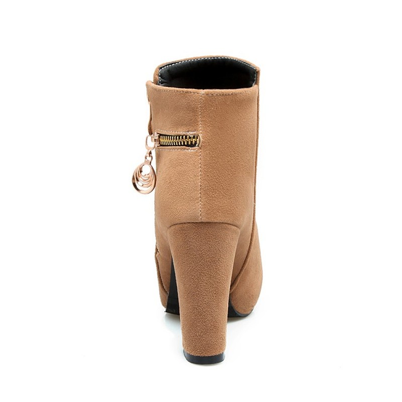 Cheville Mode Hiver Grande Nouvelle 43 Zip Talons 2 Up Bottes Haute Femmes Femme Plate Taille 1 34 forme 4 Chaussures Maziao 2018 3 Troupeau 5tznwqET