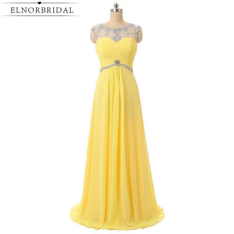 Yellow Plus Size Evening Dresses