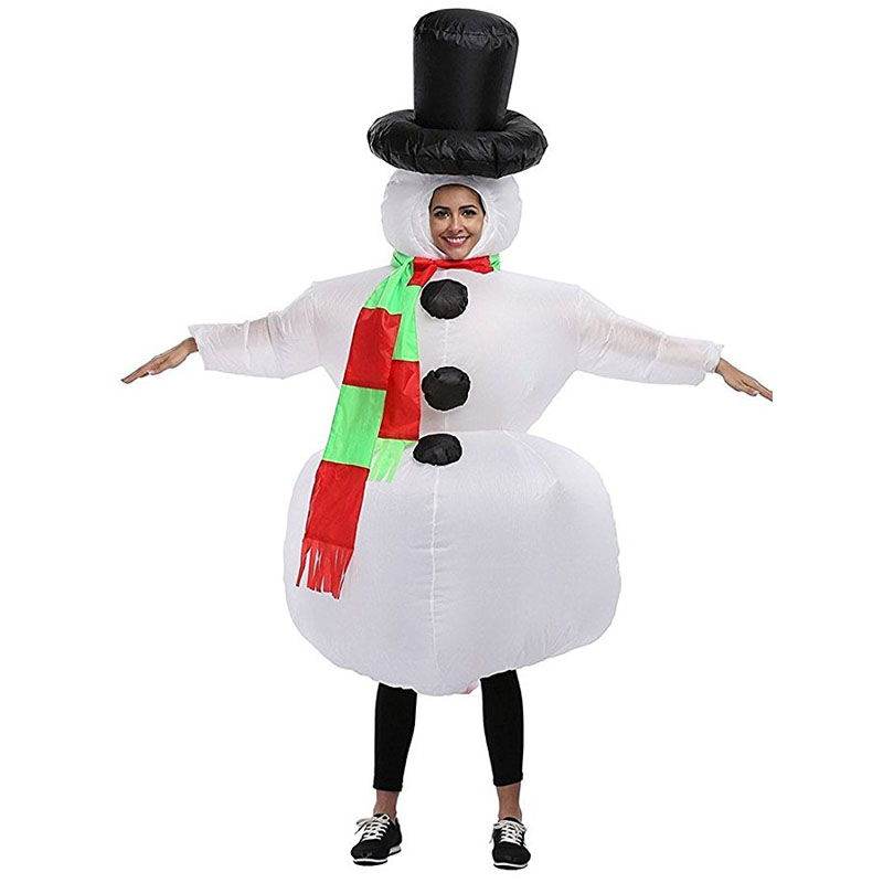 Snowman Mascot Adult Cosplay Costumes Inflatable Santa Claus Clothes Ride on Toys Halloween Christmas Carnival Easter Party Prop