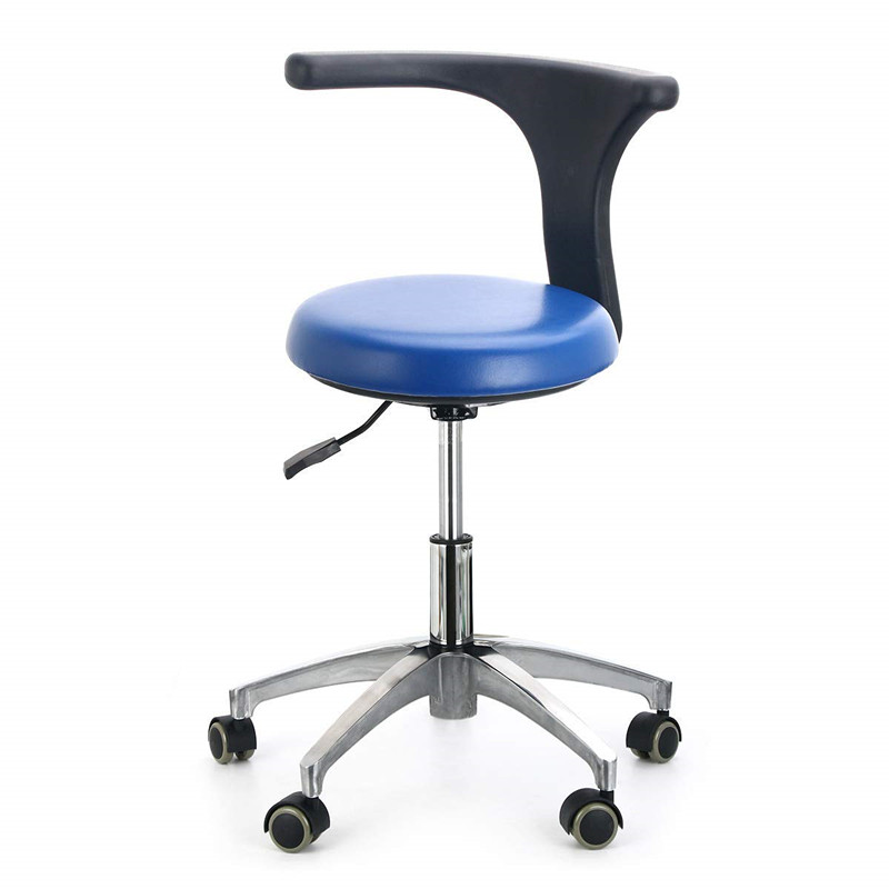 Ergonomic Medical Doctor Stool Dentist Swivel Rolling Chair With Back Swivel Adjustable Dentist Stool Dental Clinic Spa Massage