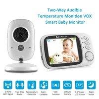 SANNCE 3.2 pulgadas LCD Baby Monitor de INFRARROJOS de Visión Nocturna 2 vías de Conversación 8 Lullabies Temperatura monitor de vídeo niñera niñera de radio Cam