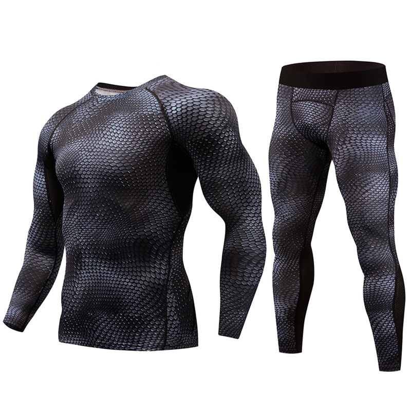 New Compression Set Men Tracksuit Fitness Bodybuilding Tight Men Long T shirt Leggings Gym Run Jogging MMA Rashguard Sport SuitNew Compression Set Men Tracksuit Fitness Bodybuilding Tight Men Long T shirt Leggings Gym Run Jogging MMA Rashguard Sport Suit