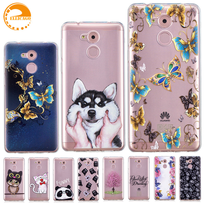 Phone Bags & Cases Beautiful Izyeky Case For Huawei Honor 6c Pro Moon Space Animal Bear Cover For Huawei V9 Play Coque Honor 6c Pro 5.2 Jmm-l22
