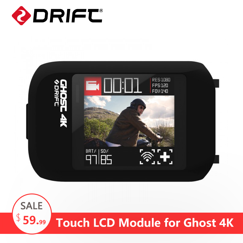 все цены на DRIFT Action Camera Sport cam Accessories LCD Touch Screen Module for Ghost 4K онлайн
