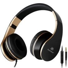 Sonido entonan i65 plegable auriculares auriculares con micrófono y control de volumen para iphone 6/6 s ipad/ipod, Dispositivo Android
