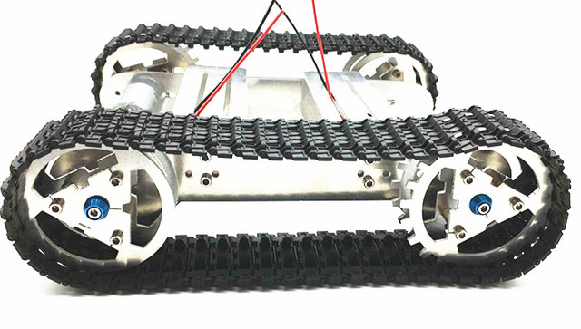 DIY Tracked vehicle Metal robot Tank chassis Track Caterpillar car ...