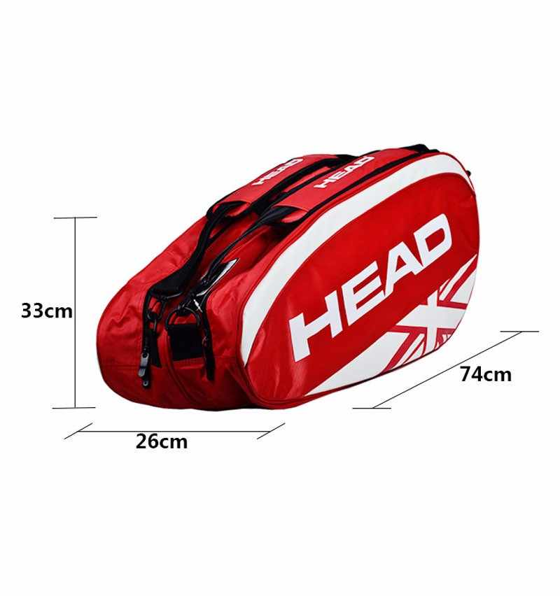 Head Tennis Bag Brand Tennis Backpack Racket Union Jack Sport Bag Large Capacity 3-6 Tennis Racquets Bag With Separated Shoe Bag