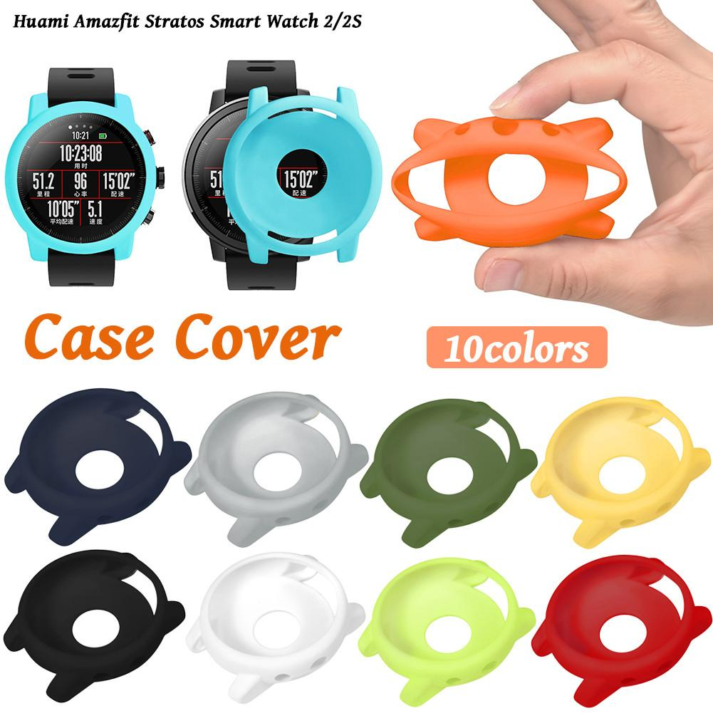 New Arrival Slim PC Case Cover Soft Protective Shell For Huami Amazfit Stratos Smart Watch 2/2S Anti-break crack prevention Case kbdfans new arrival dz60 case acrylic cnc case milk case shell pcb costar plate for 60