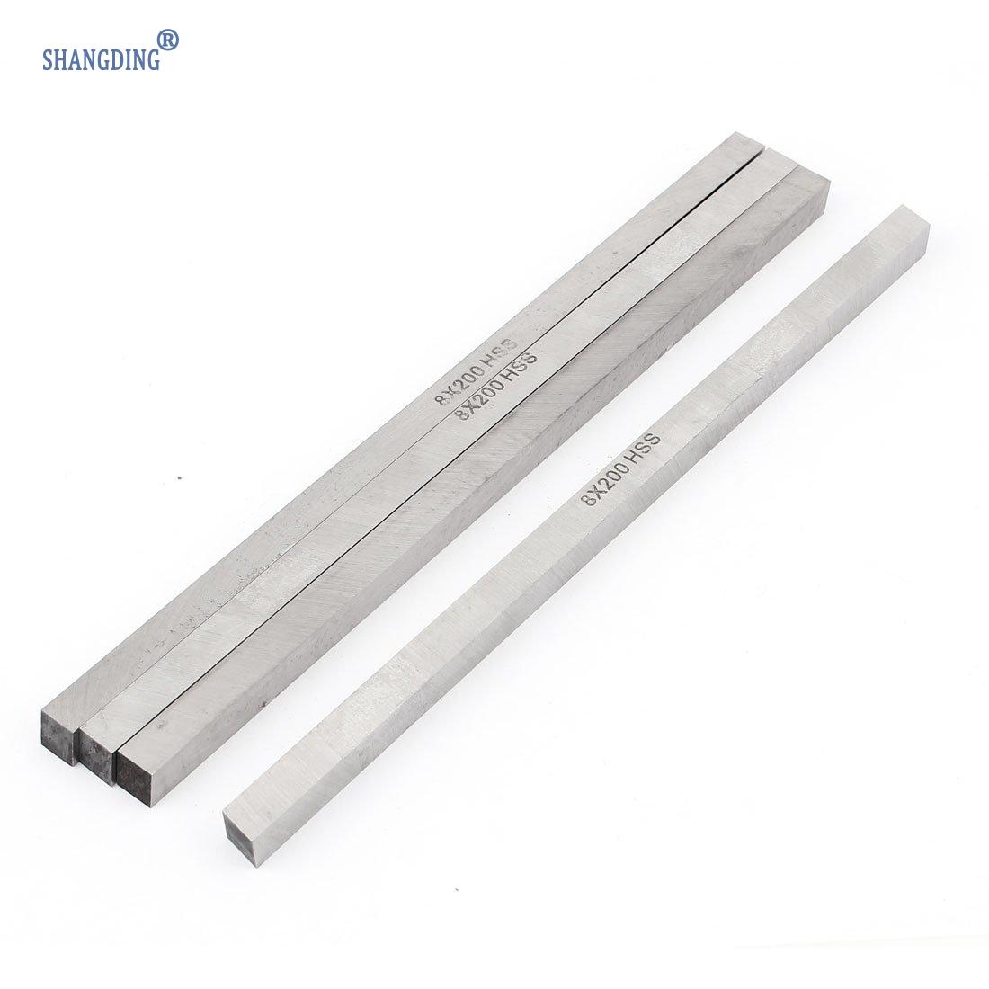 Купить с кэшбэком Promotion! 4 pcs CNC Lathe HSS Square Cutting Tool Bits Bar 8mm x 8mm x 200mm Gray