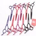 Левая рука 5,5 дюйма. 16 см фиолетовый дракон 440C Профессиональные Парикмахерские ножницы режущие ножницы филировочные ножницы для волос Z8001