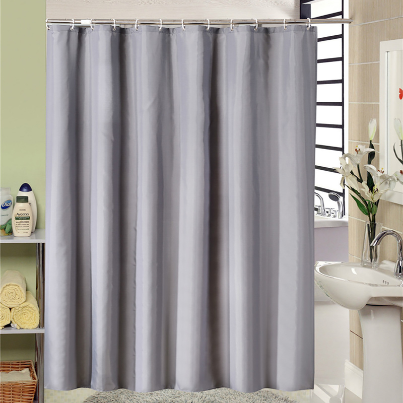 European Style Modern Grey Bathroom Shower Curtain Fabric Liner With 12 Hooks 71x71 Inch Waterproof And Mildewproof Bath In Curtains From