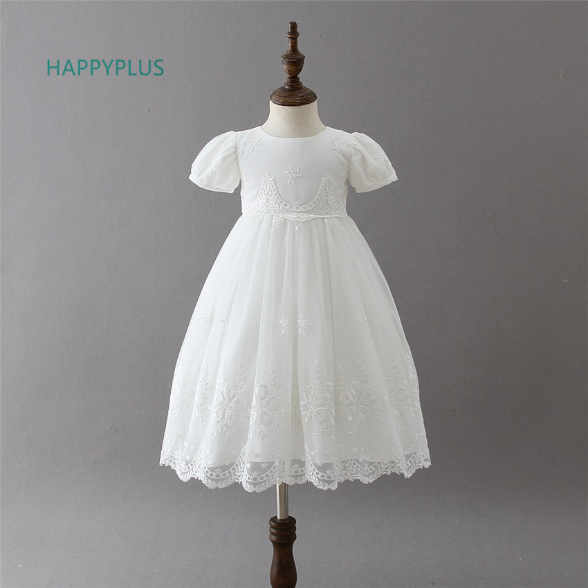 afdee14ebe6fb US $19.61 41% OFF|HAPPYPLUS Baby Girl Lace Christening Dress Child Maxi  Infant Baby Dress Baptism 3 6 12 18 24 Months Formal Wedding Outfits -in ...