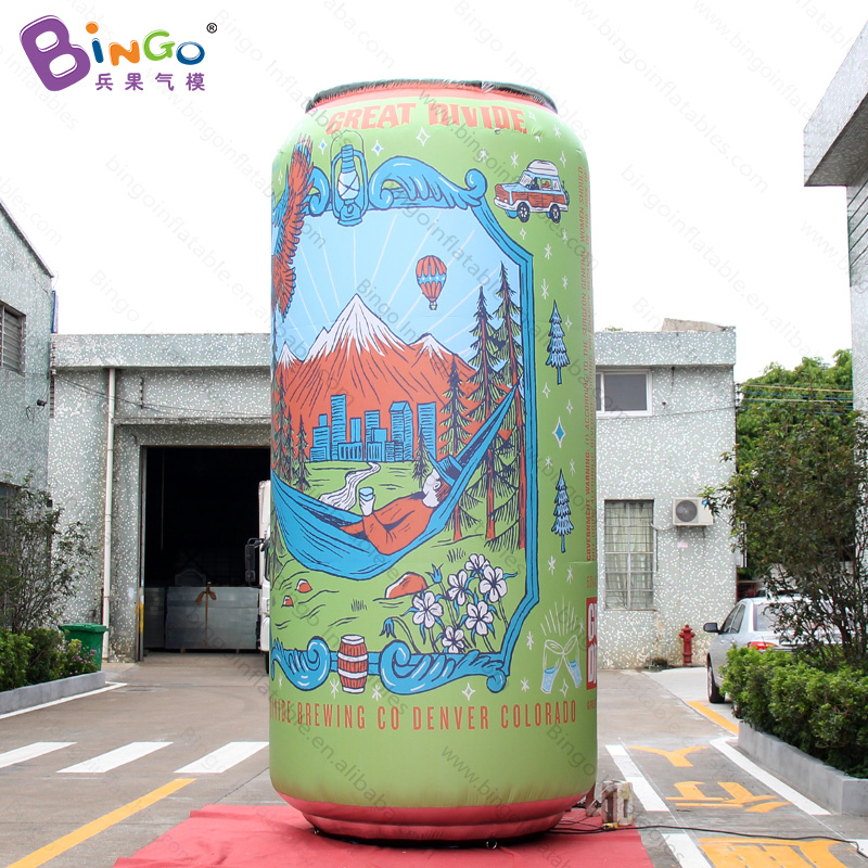 Customized 15 feet high giant inflatable can / promotional inflatable beer can / large inflatable juice can toysCustomized 15 feet high giant inflatable can / promotional inflatable beer can / large inflatable juice can toys