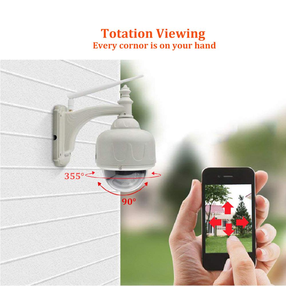 VStarcam Speed Dome 720P Outdoor Waterproof IP Camera Wireless Wifi Security Camera PTZ Cam Auto Focus IR Night Remote Control